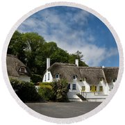 Thatched Cottages Near Dunmore Round Beach Towel