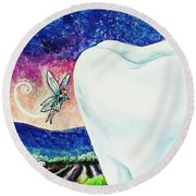 That's No Baby Tooth Round Beach Towel by Shana Rowe Jackson