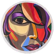 The Abstract Ai Round Beach Towel