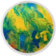 The Abstract Earth Round Beach Towel