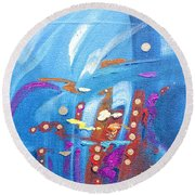 The Abyss Round Beach Towel