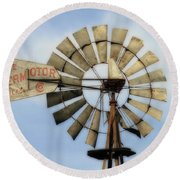 The Aermotor Company Round Beach Towel