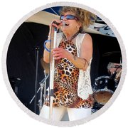 Round Beach Towel featuring the photograph The Amazing Lydia Pense by Fiona Kennard