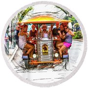 The Amazing Pubcycle Round Beach Towel