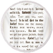 The Ancient Game Of Golf - Sepia Round Beach Towel