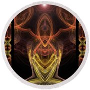 The Angel Of Meditation Round Beach Towel by Diana Haronis