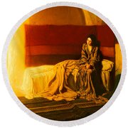 The Annunciation Round Beach Towel