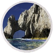 The Arch Cabo San Lucas Round Beach Towel by Sebastian Musial