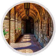 The Arches Round Beach Towel by Richard J Cassato