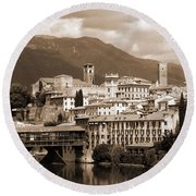 The Architecture Of Bassano Del Grappa Round Beach Towel