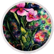 The Aroma Of Grace Round Beach Towel by Hazel Holland