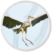 The Arrival Round Beach Towel by Heather King