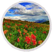 The Art Of Wildflowers Round Beach Towel