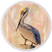 Birds - The Artful Pelican Round Beach Towel