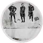 The Trio  Round Beach Towel