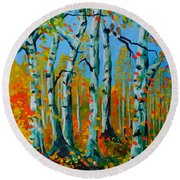 The Aspens Round Beach Towel