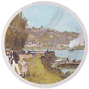 The Attractions Of A Visit To The Parisian Suburb Of Athis-mons With The 'chemins Round Beach Towel