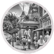 Round Beach Towel featuring the photograph The Bakery by Howard Salmon