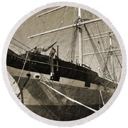 The Balclutha Round Beach Towel by Holly Blunkall