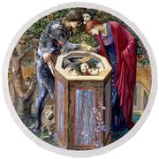 The Baleful Head, C.1876 Round Beach Towel by Sir Edward Coley Burne-Jones