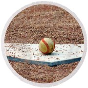 The Ball Of Field Of Dreams Round Beach Towel