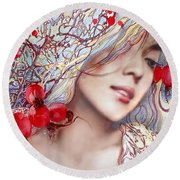 The Barberry Round Beach Towel
