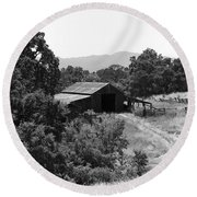 The Barn Round Beach Towel by Richard J Cassato