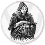 The Basket Maker Round Beach Towel