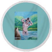 The Bather Round Beach Towel