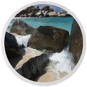 The Baths - Devil's Bay Round Beach Towel