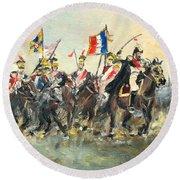 The Battle Of Austerlitz Round Beach Towel