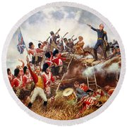 The Battle Of New Orleans Round Beach Towel