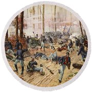 The Battle Of Shiloh April 6th-7th 1862 Round Beach Towel