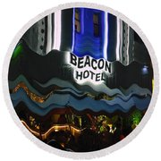 The Beacon Hotel Round Beach Towel