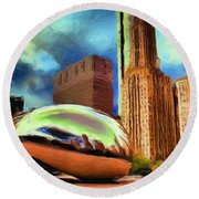 The Bean - 20 Round Beach Towel by Ely Arsha