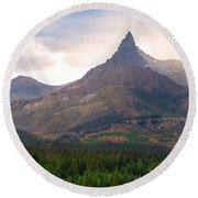 The Beartooth Mountains   Round Beach Towel