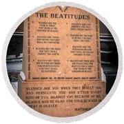 The Beatitudes Round Beach Towel