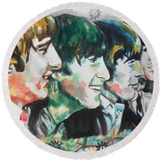 The Beatles 01 Round Beach Towel