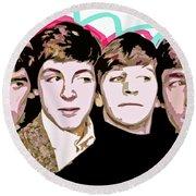 The Beatles Love Round Beach Towel