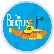 The Beatles No.11 Round Beach Towel