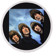 The Beatles Rubber Soul Round Beach Towel by Paul Meijering