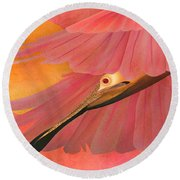 The Beauty Flight - Limited Edition 1 Of 10 Round Beach Towel by Gabriela Delgado