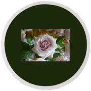 Round Beach Towel featuring the photograph The Beauty Of A Flower by Jim Fitzpatrick