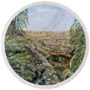 The Beauty Of A Marsh Round Beach Towel by Felicia Tica