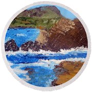 The Beauty Of Nature  Round Beach Towel
