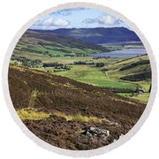 The Beauty Of The Scottish Highlands Round Beach Towel