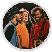 The Bee Gees Round Beach Towel by Paul Meijering