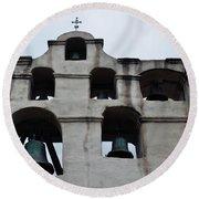 The Bells Of Mission San Gabriel Arcangel Round Beach Towel