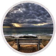 The Bench Round Beach Towel