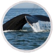 The Big Blue In The Bigger Blues... Round Beach Towel
